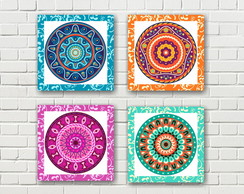 Quadro Decorativo Kit Mandalas PRONTA ENTREGA