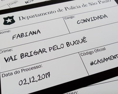 Placas Divertidas - Placas de Crime