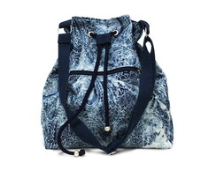 Bucket Bag Jeans Azul Malhado