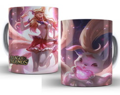 Caneca LOL League of Legends- Ahri Guardiã Estelar