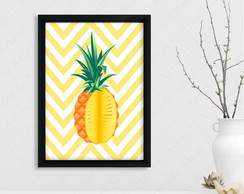 Quadro Abacaxi cód: 420s1-2 pineapple