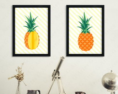 Kit com 2 Quadros Abacaxi cód: 420s3-2 pineapple