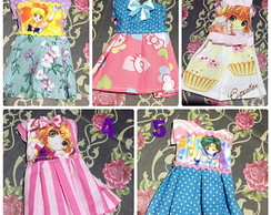 Vestidos Sailor Moon Sakura Hello Kitty Para Bonecas Blythe
