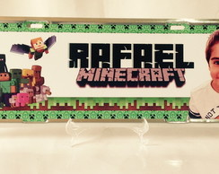 Placa de Carro Personalizada e Decorativa Minecraft