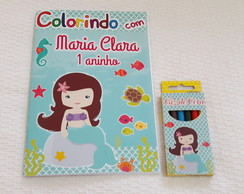 Kit colorir Pequena Sereia Cute