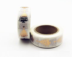 Fita Adesiva Washi Tape Natal 15mm x 10m