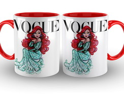 Caneca Vogue Princesas Disney Ariel