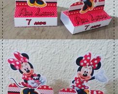 Porta Chocolate Duplo Personalizado Minnie