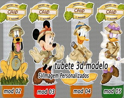 Tubete 3d Mickey Safari
