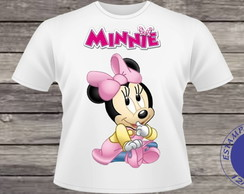 Camiseta da Minnie Disney (adulto/infantil) #074