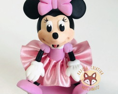 Pote Papinha Minnie Rosa Biscuit
