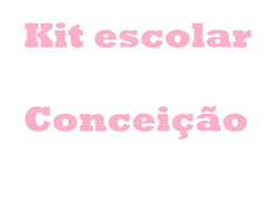 Kit escolar personalizado