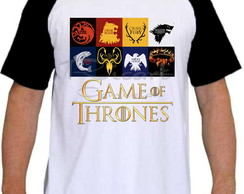 Camiseta Raglan Game Of Thrones Símbolos