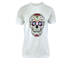 Camiseta Estampa Old Skull Colors