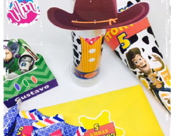 kit festa - Ouro - Toy Story - 140 itens