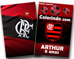revista colorir flamengo 14x10