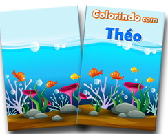 Revista de colorir fundo do mar 14x10