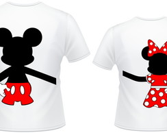 Kit 2 camiseta casal Mickey e Minnie