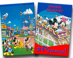 revista colorir parque do Mickey 14x10