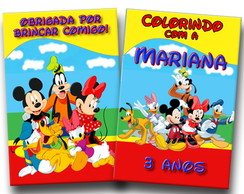 Revista Colorir turma do Mickey 14x10
