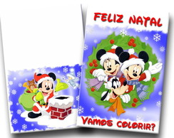 Revista Colorir Natal Mickey 14x10
