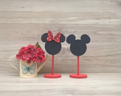 Duo Lousa de mesa Mickey e Minnie - com base