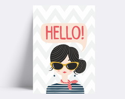 Placa decorativa/ HELLO! 46