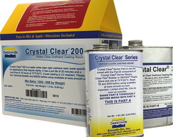Kit Resina Pu Cristal Smooth-on Crystal Clear 200
