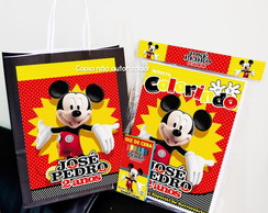 Kit Colorir Mickey Mouse com Sacola personalizado