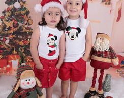 Fantasia de Natal Mickey e minnie