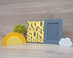 Kit Porta Retrato You Are My Sunshine + sol + nuvem