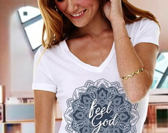 Camiseta evangélica Mandala Feel God
