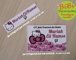Etiqueta escolar Hello Kitty