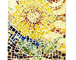 Mosaico glass - Quadro decorativo - Tema sol