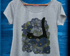 T-shirt Mescla Cats