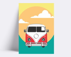 Placa decorativa / KOMBI RED 158