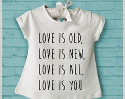 "Batinha infantil ""Love is all"""