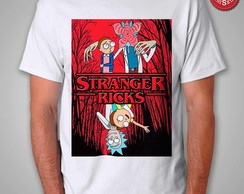 Camiseta Stranger Ricks - Rick e Morty em Stranger Things