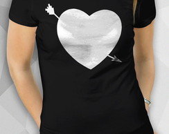 Camiseta - Arowed Heart - Fem BW