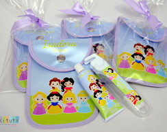 Kit Dental c/ porta escova Princesas Cute