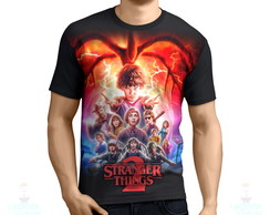 Camisa, Camiseta Stranger Things 2 Pôster- Estampa Total
