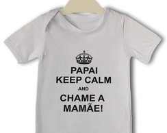 Body Divertido Bebê Papai Keep Calm