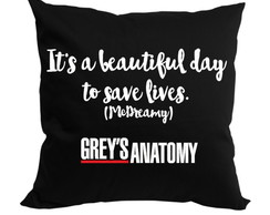 Almofada Grey's Anatomy It's a Beautiful Day...