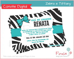 Convite Digital Zebra & Tiffany