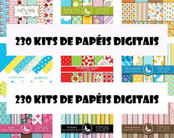 230 Kits De Papéis Para Scrapbook Digital