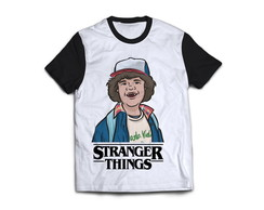 Camiseta Dustin Stranger Things Camisa Blusa Serie