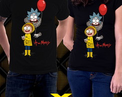 Camisetas Rick And Morty It Pennywise Séries Desenhos