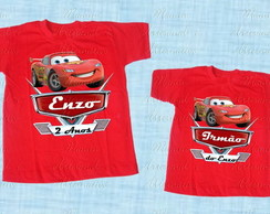 kit 2 Camisetas ou body divertida Carros