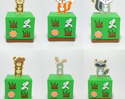 Caixa cubo - Animais do bosque - Woodland