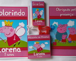 Kit Colorir e Massinha Peppa Pig